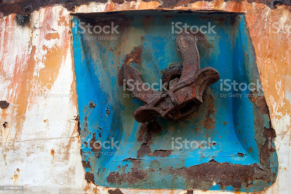 Rusty Anchor royalty-free stock photo