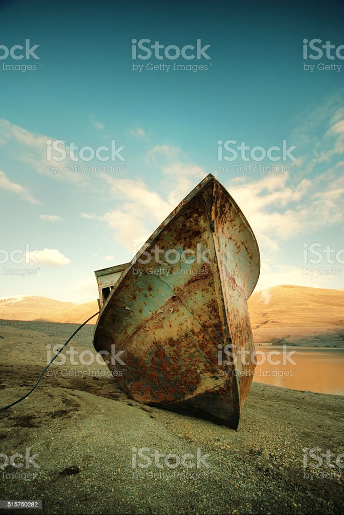 rusty and lonely stock photo