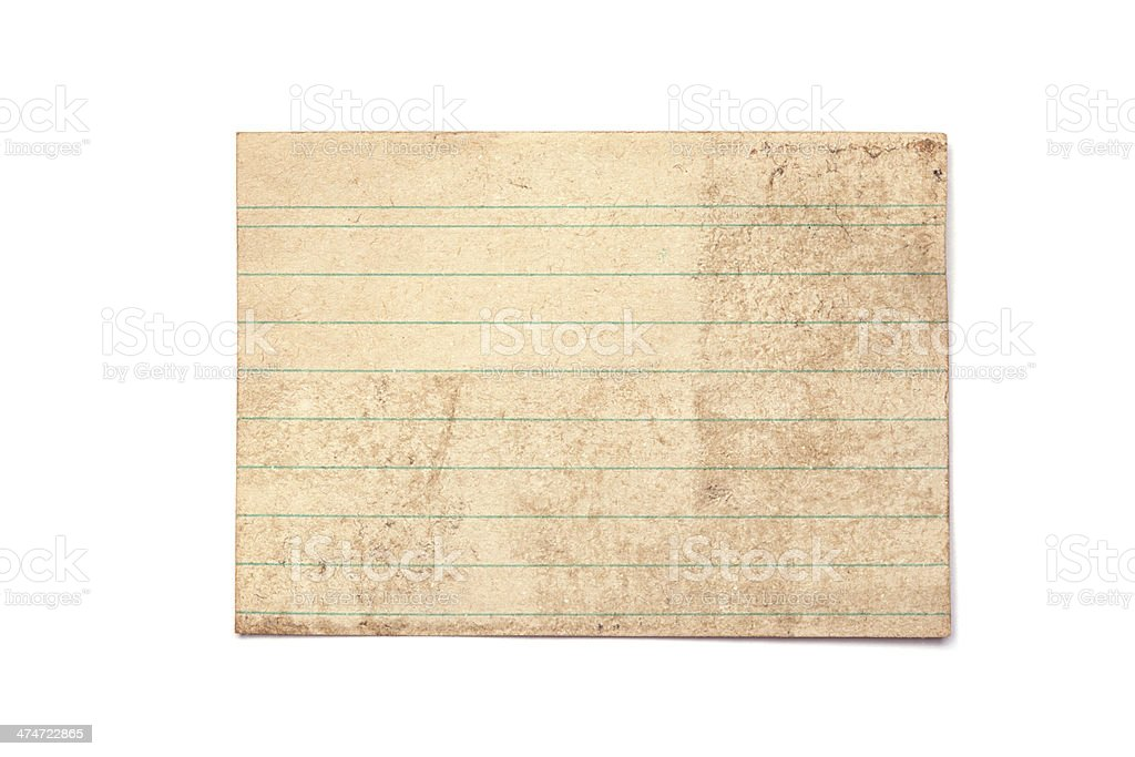 Rusty and Old Objects, isolated - Index Card royalty-free stock photo