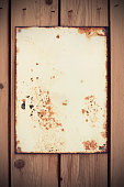 Rusty and weathered blank sign