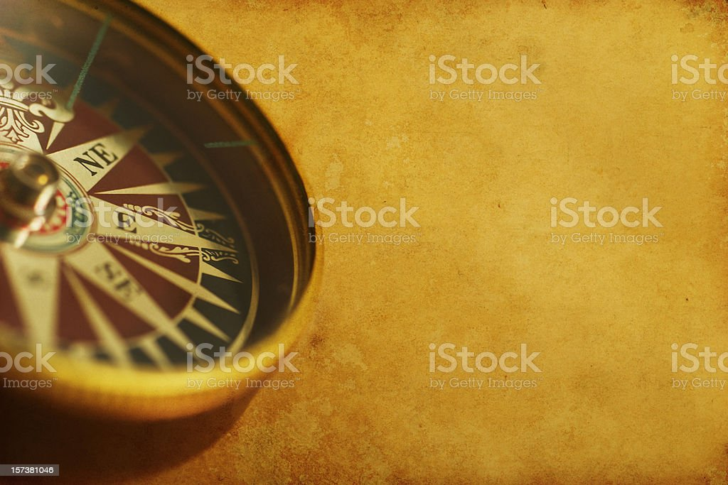 Rusty antique compass royalty-free stock photo