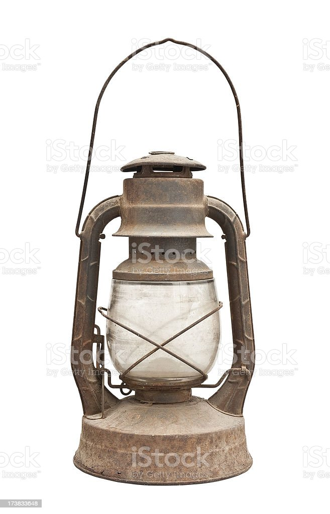 Rusty Antique Lantern royalty-free stock photo