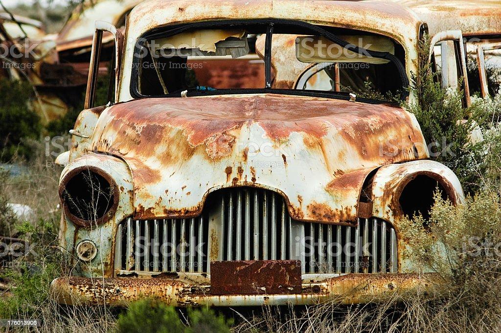 Rusty australian car, front royalty-free stock photo