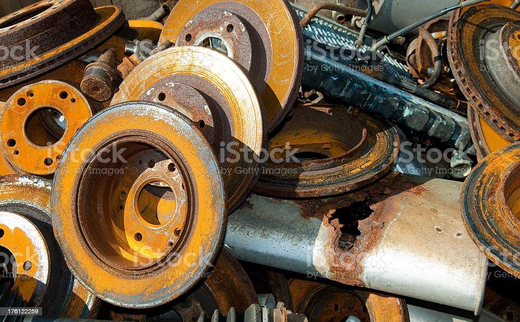 Rusty Auto Parts royalty-free stock photo