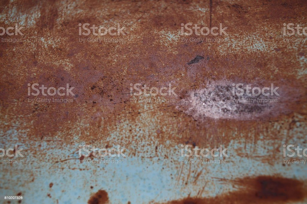 Rusty automobile bodywork. Close up stock photo
