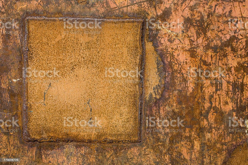 Rusty background, texture with framed copy space royalty-free stock photo
