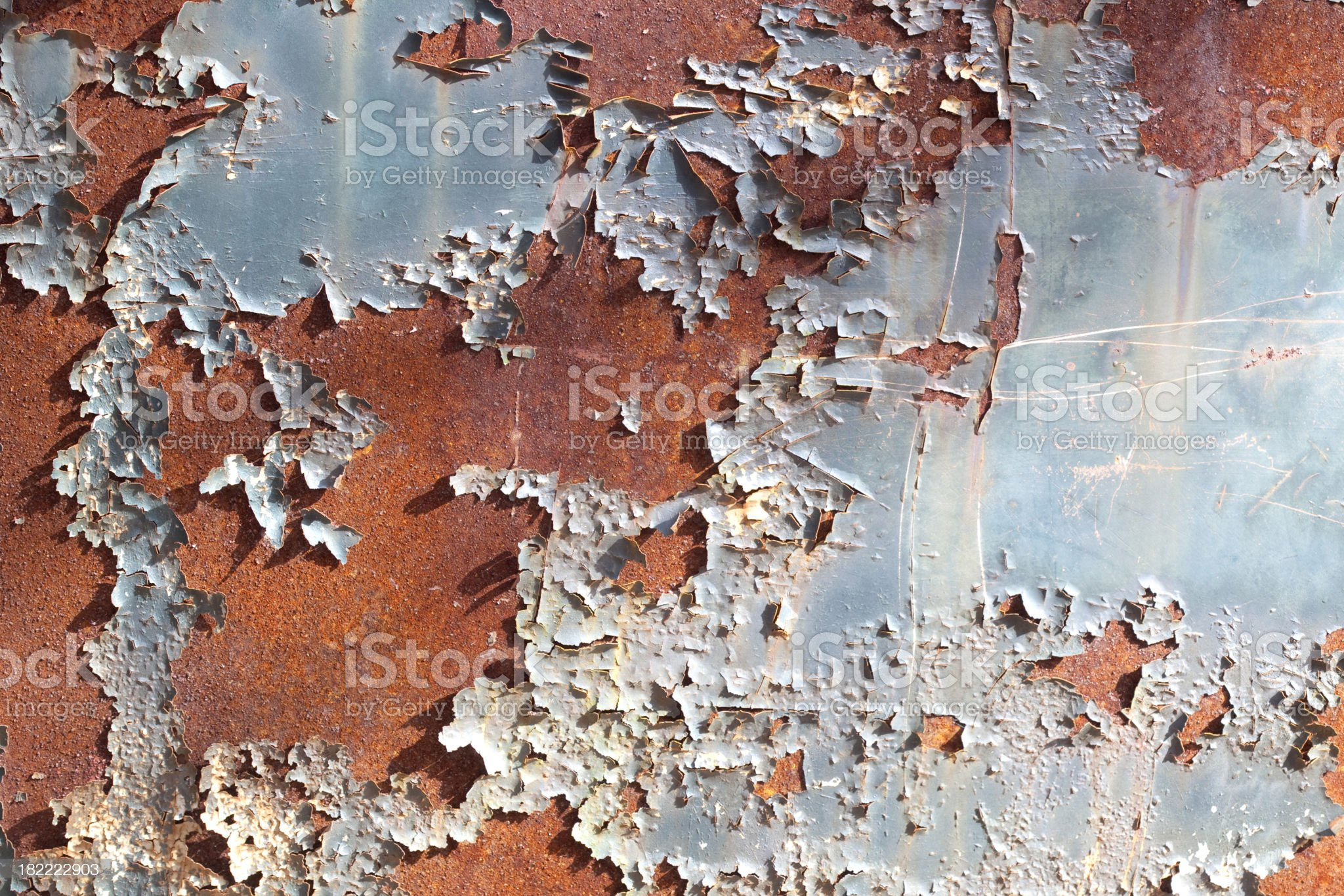 Rusty Background with Peeling Paint royalty-free stock photo