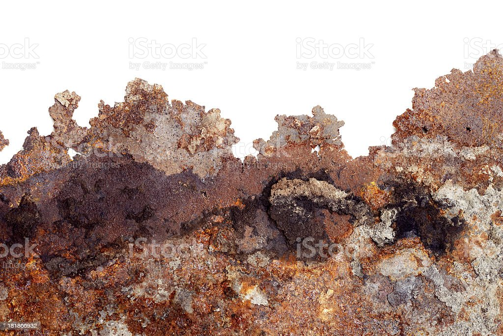 Rusty background with white copy space stock photo
