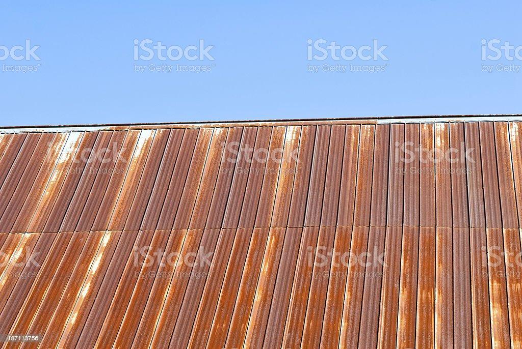 Rusty Barn Roof stock photo