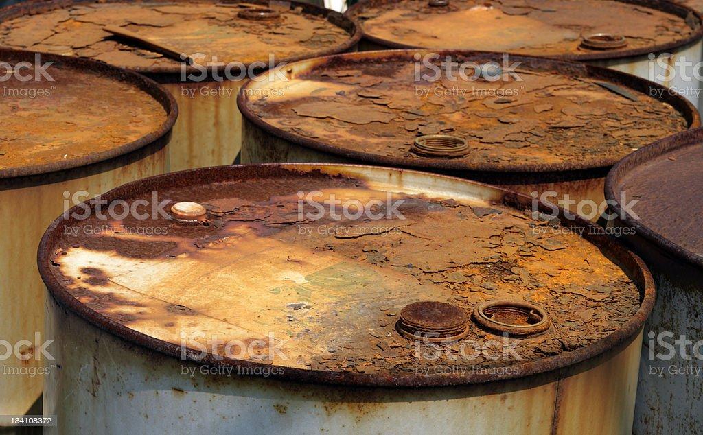 Rusty Barrel Lizenzfreies stock-foto