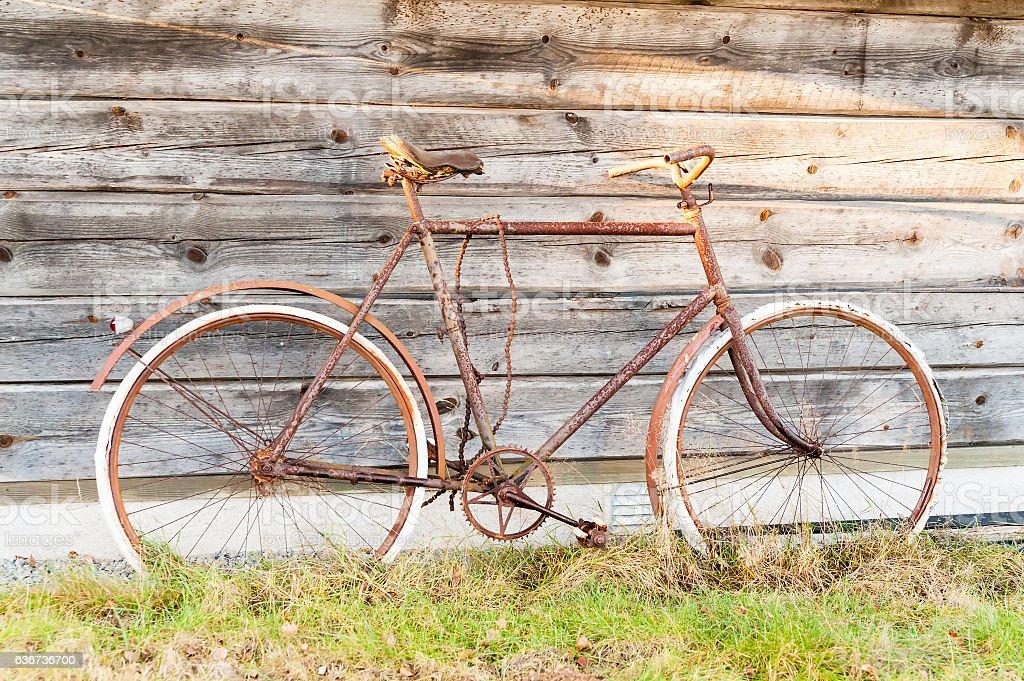 Rusty bike stock photo
