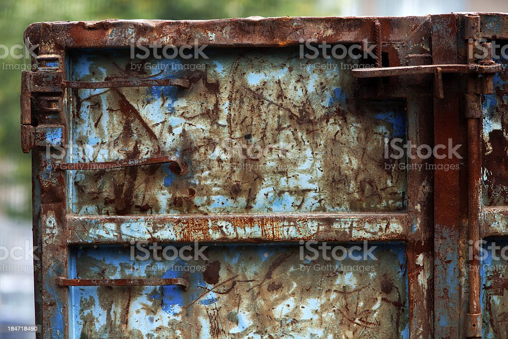 Rusty blue container royalty-free stock photo
