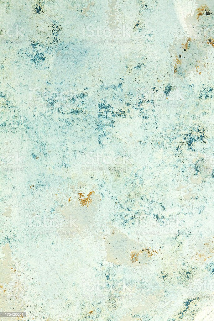 Rusty blue grunge background with stains from erosion royalty-free stock photo