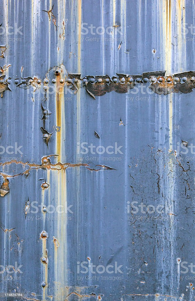 Rusty blue metallic background royalty-free stock photo