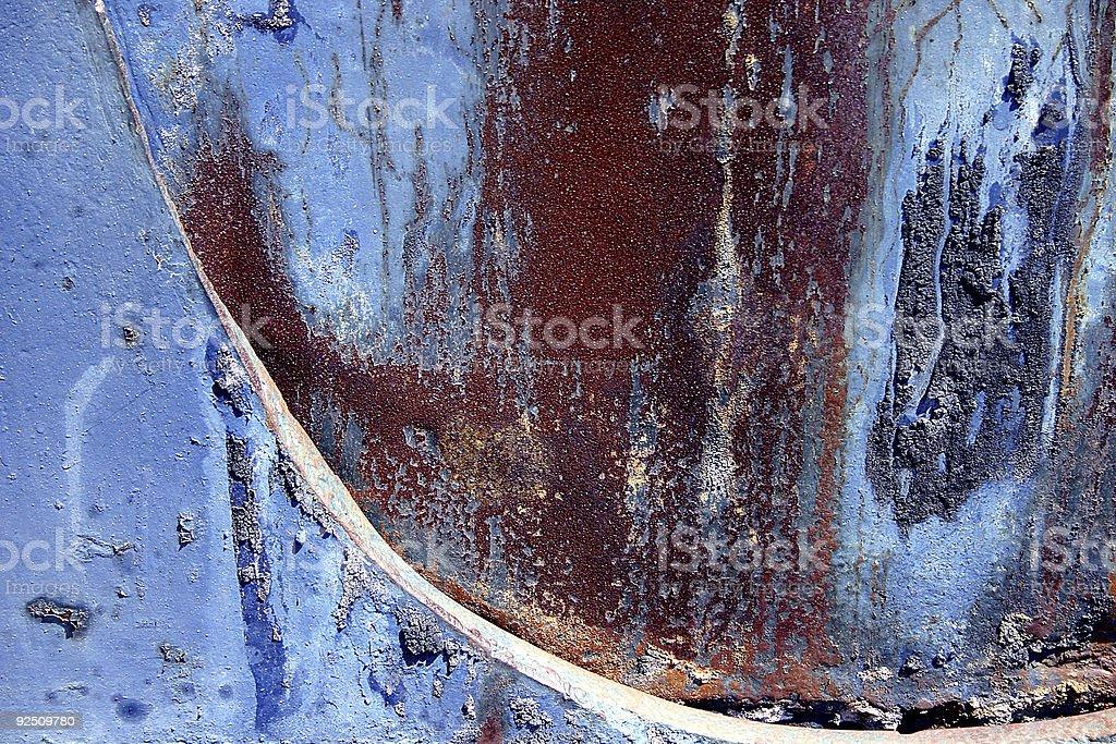 Rusty Blue royalty-free stock photo