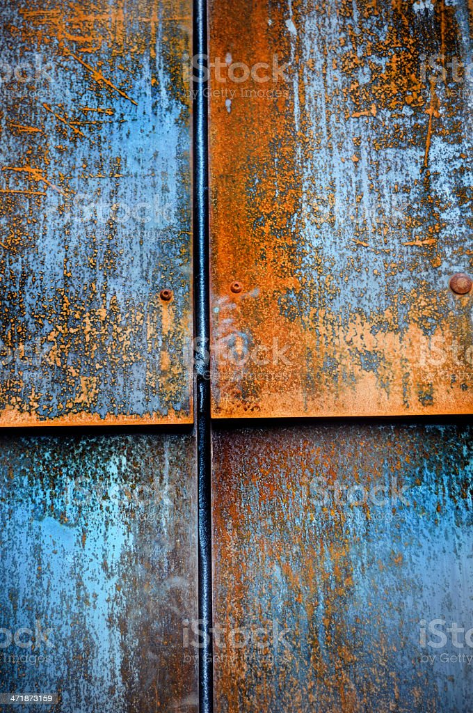 Rusty Blue Texture Background royalty-free stock photo