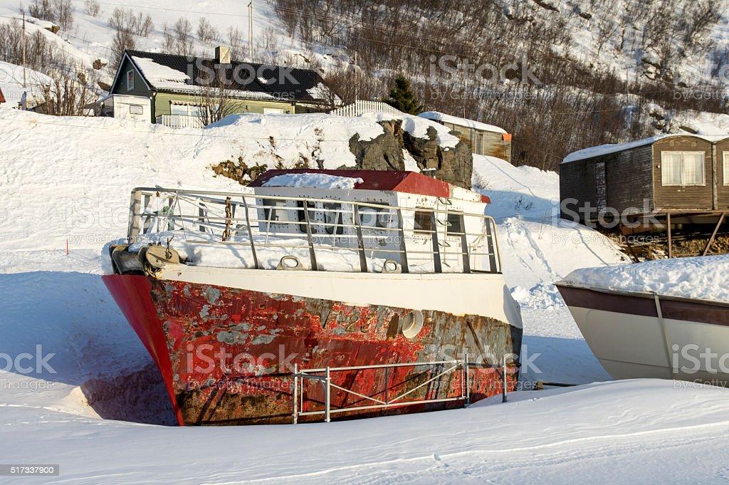 Rusty Boat stock photo