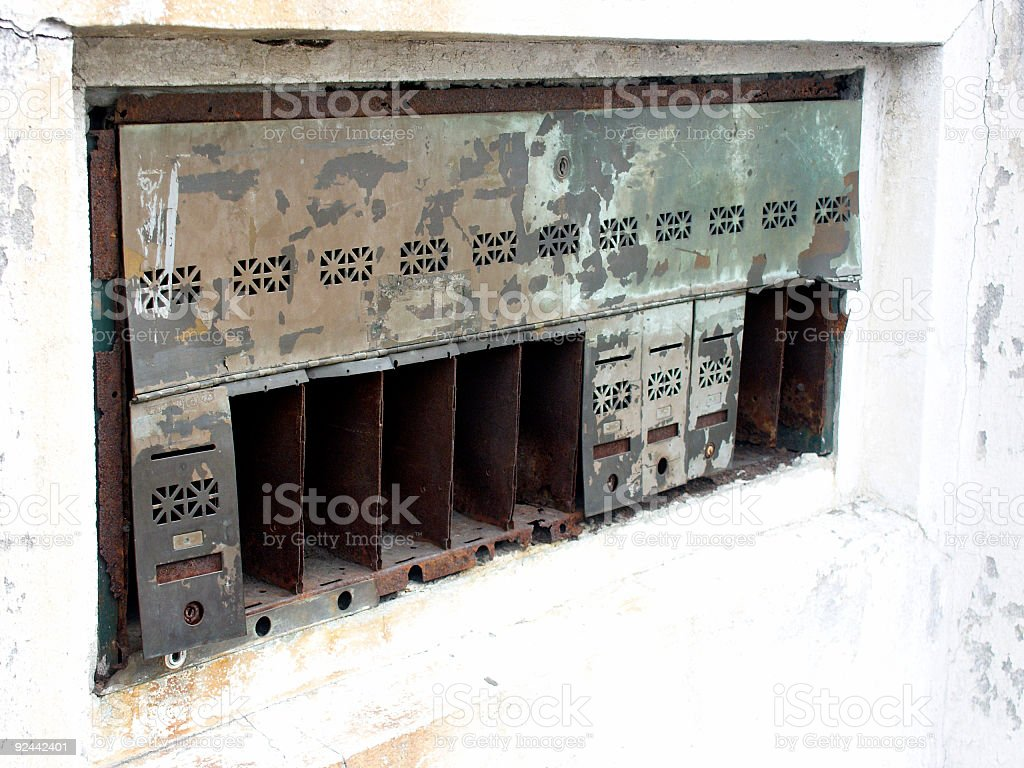 Rusty  Boxes royalty-free stock photo