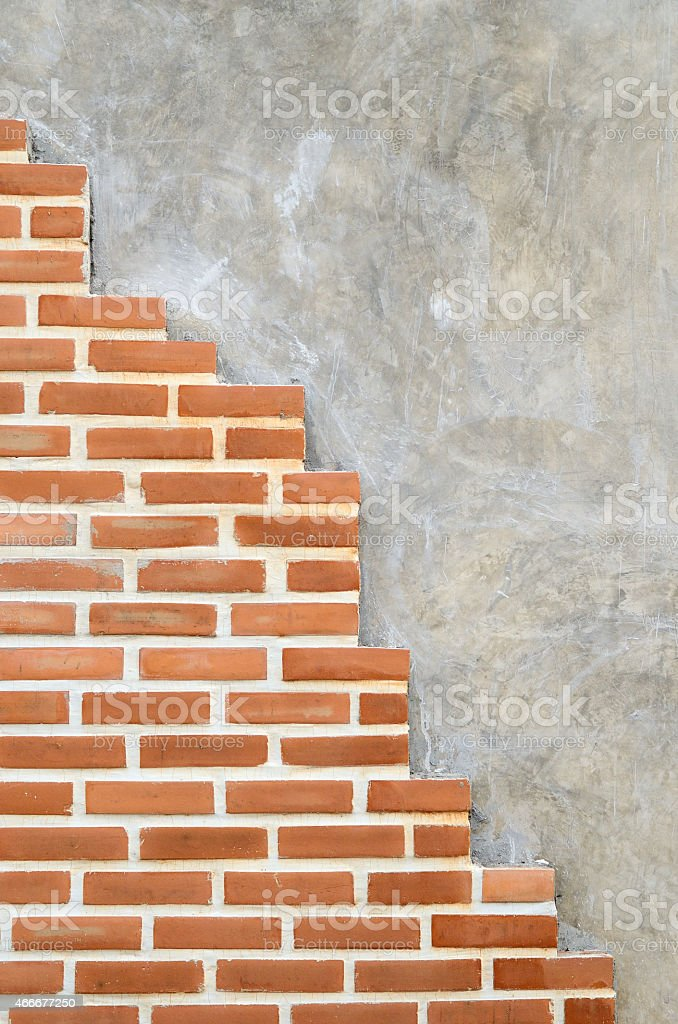 Rusty brick wall for background stock photo
