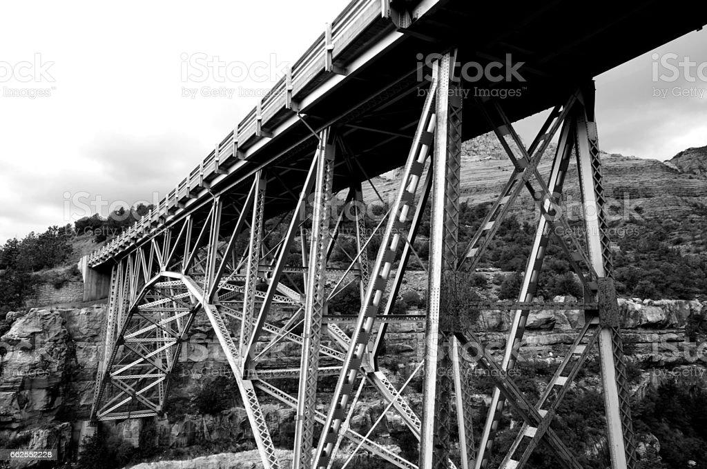Rusty Bridge stock photo