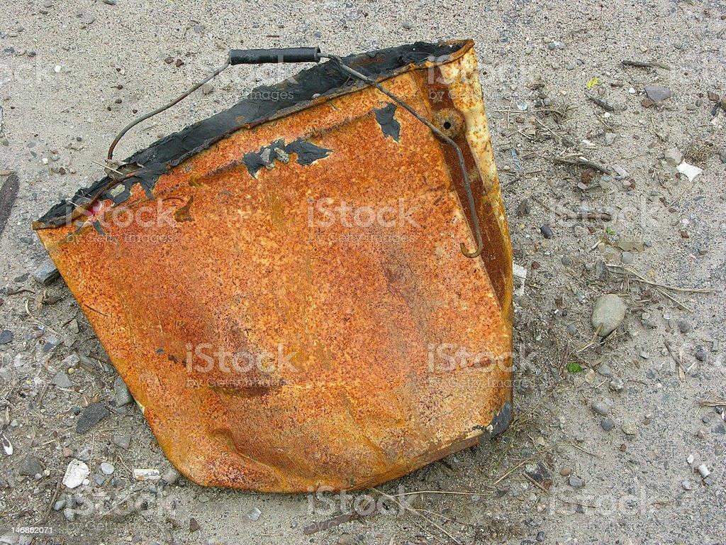 Rusty  Bucket royalty-free stock photo