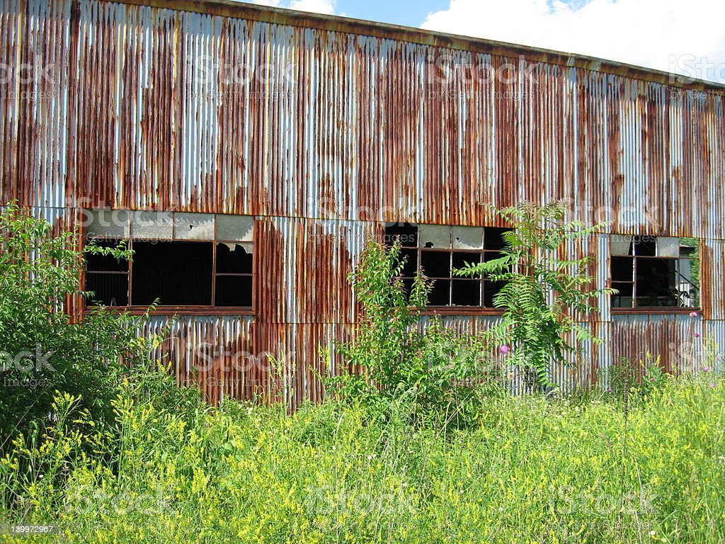 rusty building stock photo