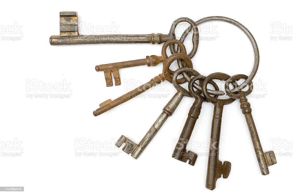 Rusty Bunch of Keys royalty-free stock photo