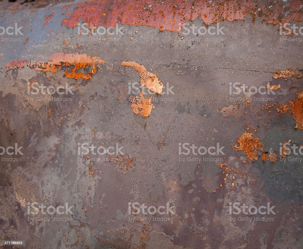 Rusty Burnt Metal Background royalty-free stock photo