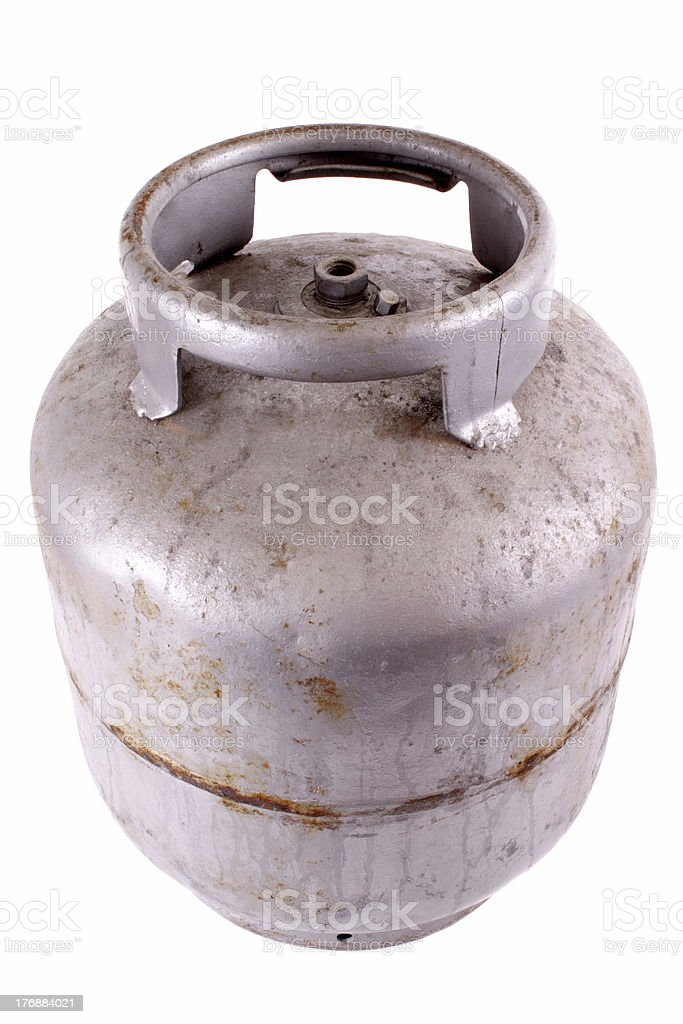 Rusty butane gas tank royalty-free stock photo