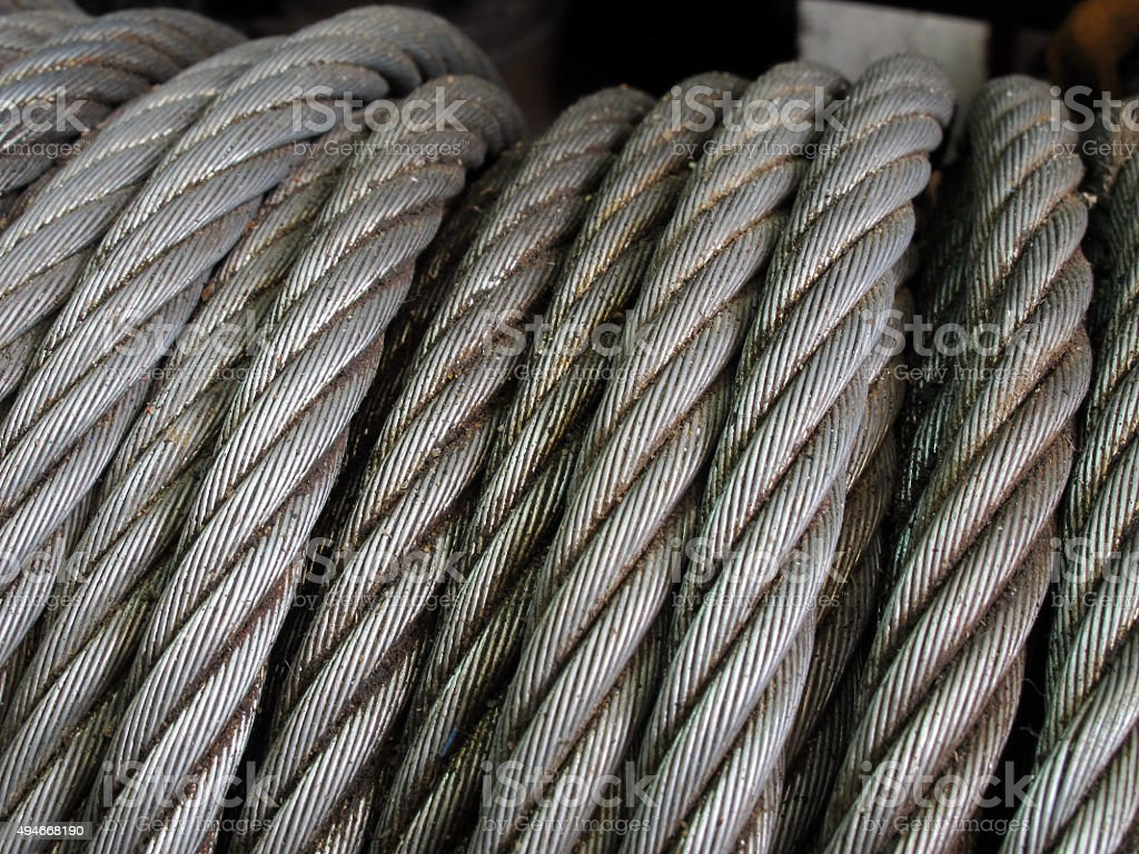 Rusty cable sling stock photo
