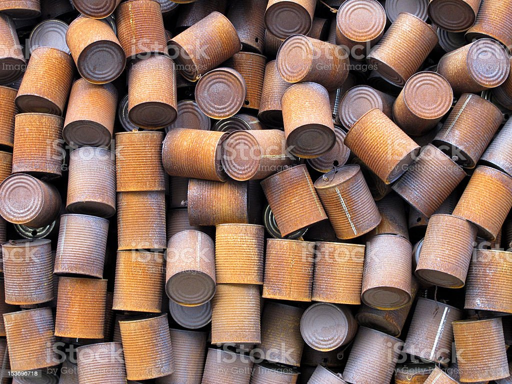 Rusty cans royalty-free stock photo