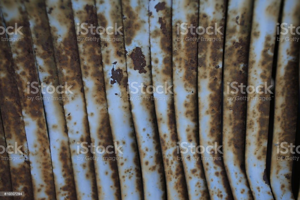 Rusty car detail. Close up stock photo