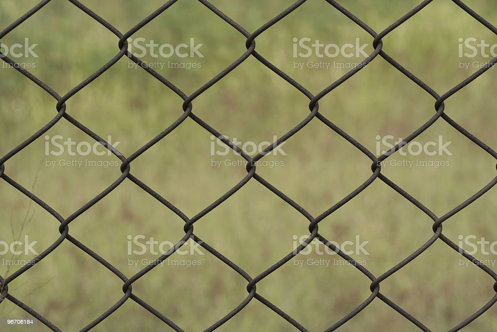 rusty chain link fence royalty-free stock photo