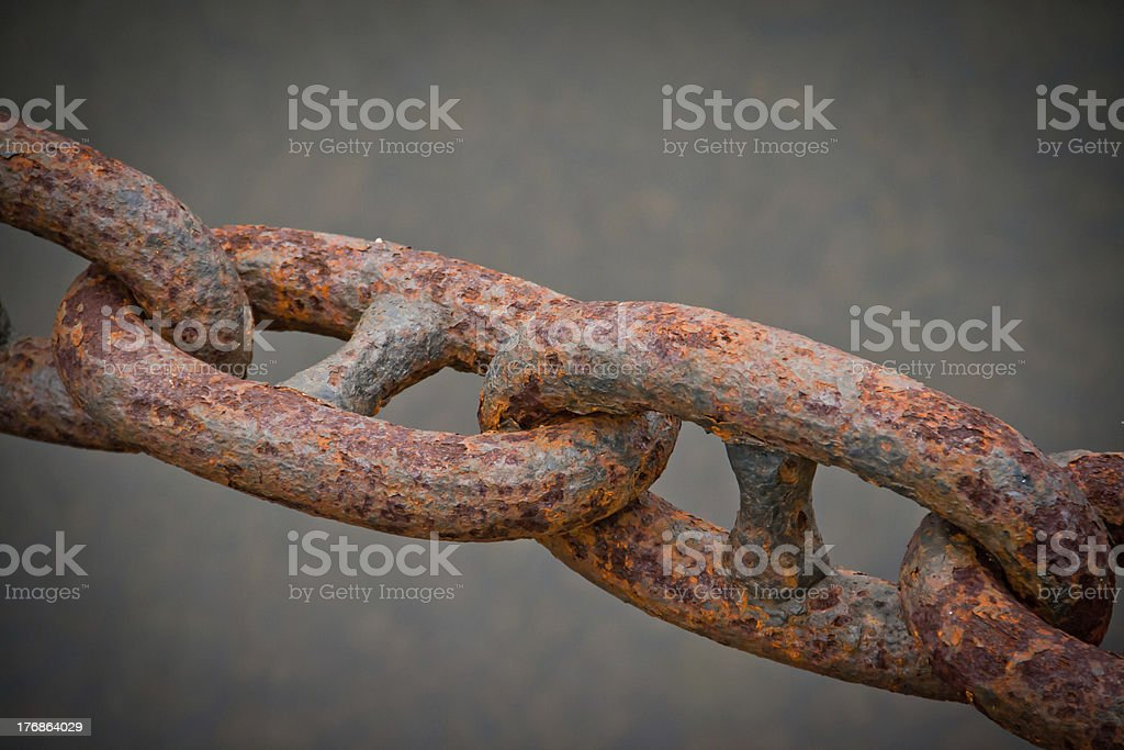 Rusty Chain royalty-free stock photo