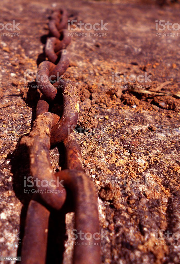 Rusty chain stock photo
