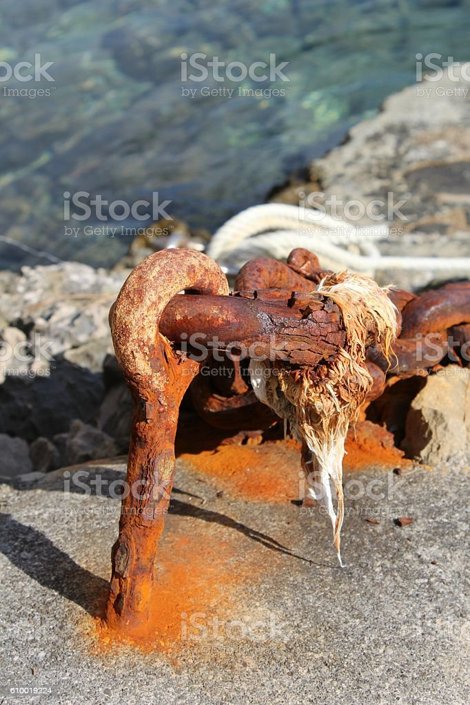 Rusty chain - Stock Image stock photo