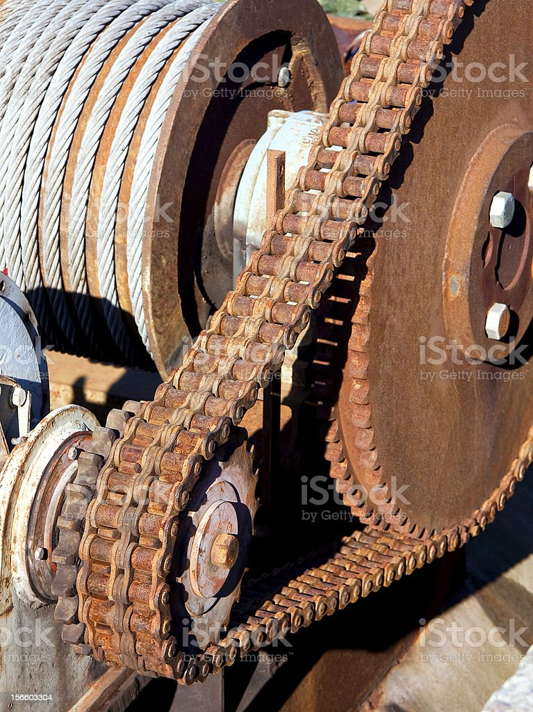 Rusty chain transmission royalty-free stock photo