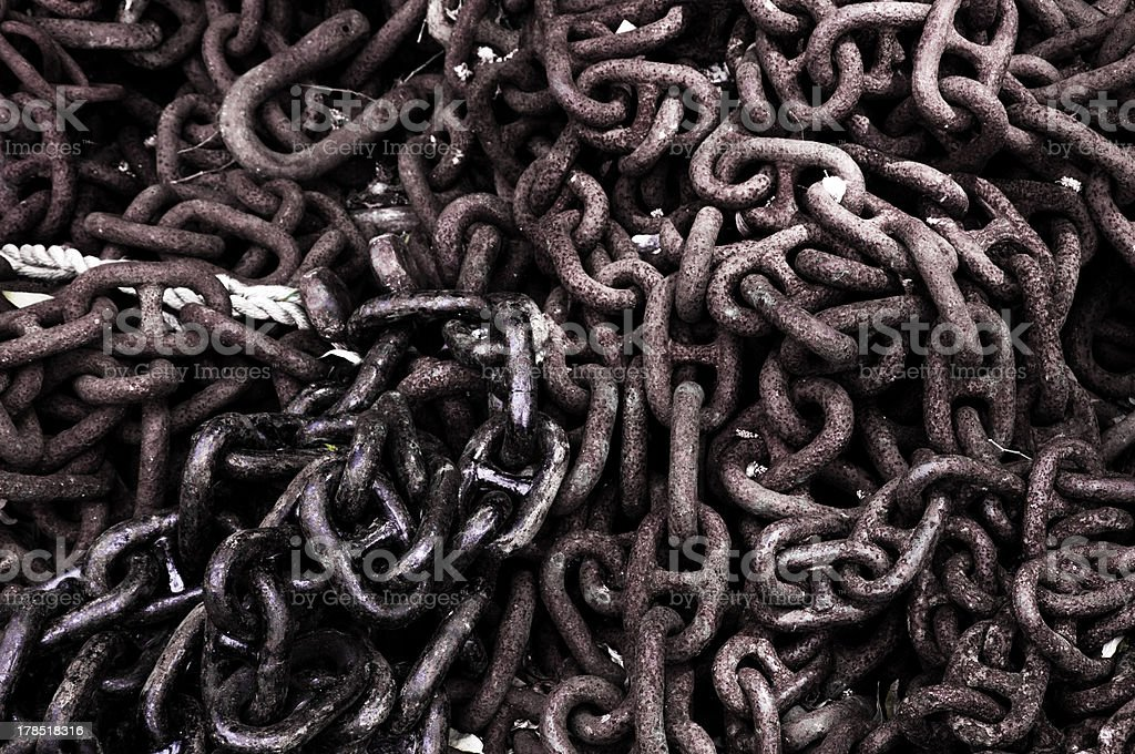 Rusty chains. stock photo