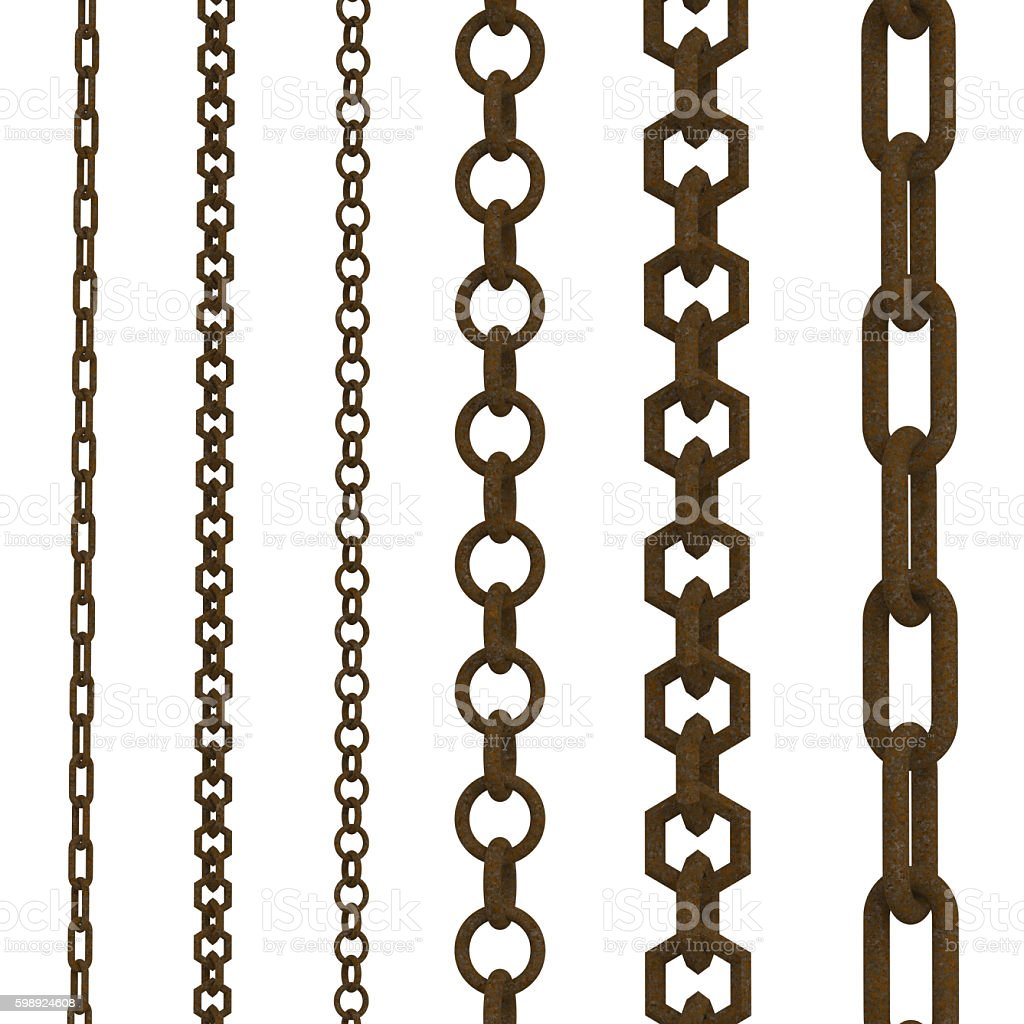 rusty chains stock photo