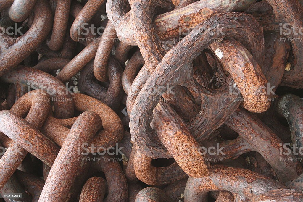 Rusty chains royalty-free stock photo