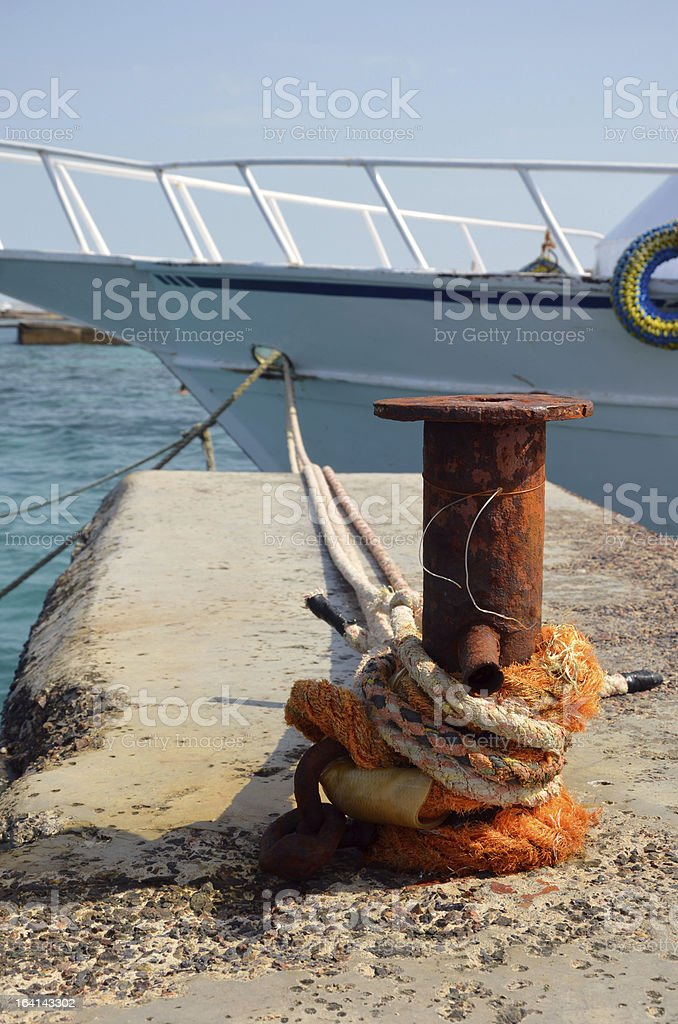 Rusty cleat in Hurghada royalty-free stock photo
