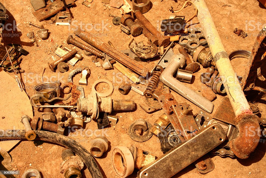 Rusty collection royalty-free stock photo