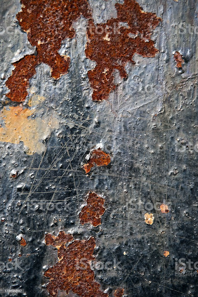 rusty corroded and scratched metal background royalty-free stock photo