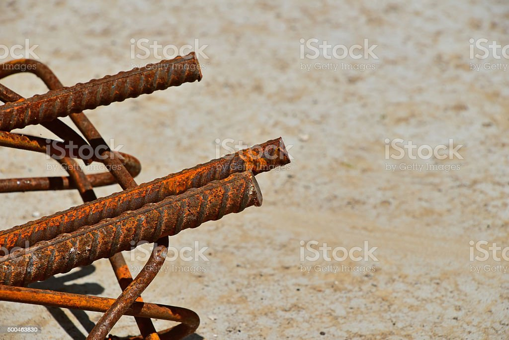 Rusty corroded stained metal wire fitting armature royalty-free stock photo