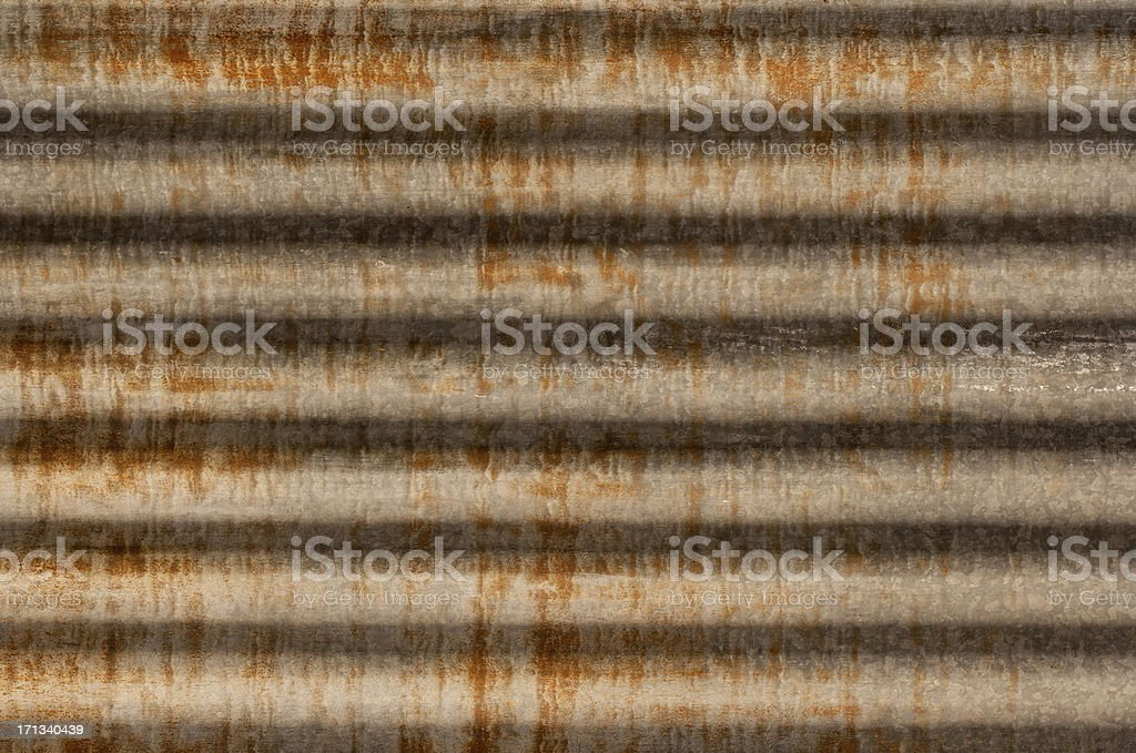 rusty corrugated iron metal texture royalty-free stock photo