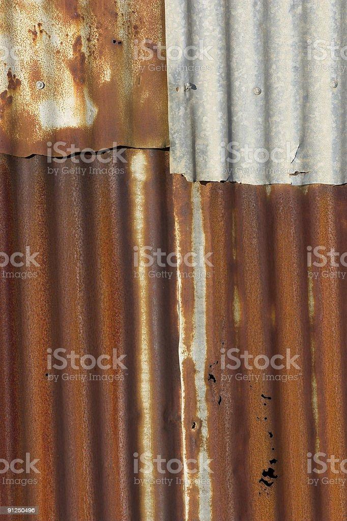Rusty Corrugated Iron stock photo
