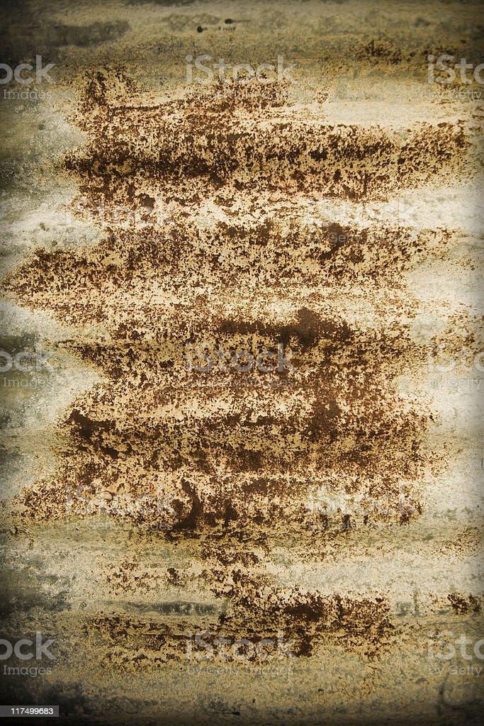 Rusty Corrugated Metal stock photo