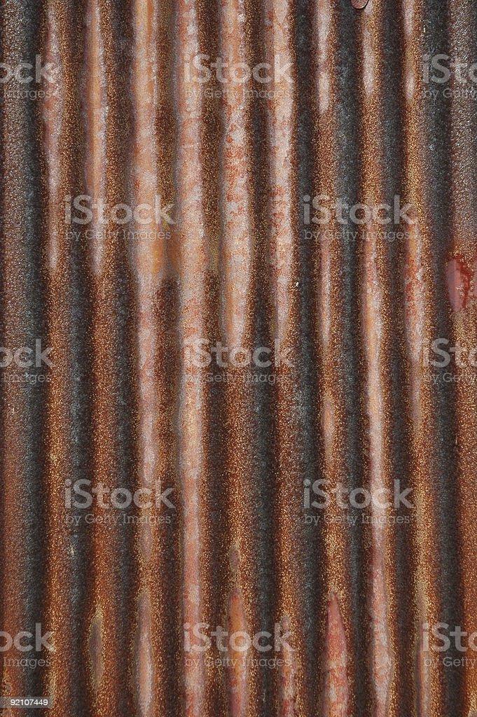 Заржавленный Гофрированное металла Стоковые фото Стоковая фотография