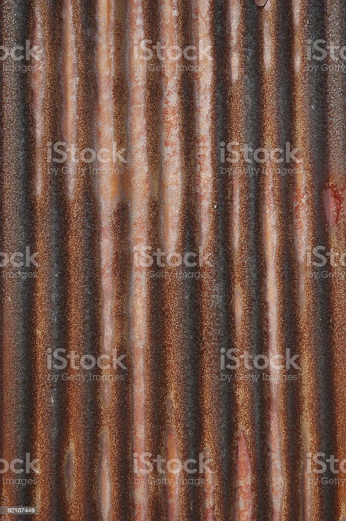 Rusty Corrugated Metal royalty-free stock photo