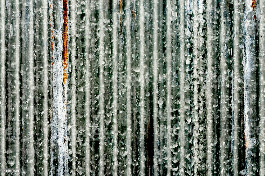 Rusty corrugated metal wall royalty-free stock photo